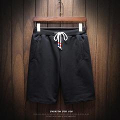 B412-K28-P30刷漆裤大码港风休闲裤日系街拍运动宽松短裤木板