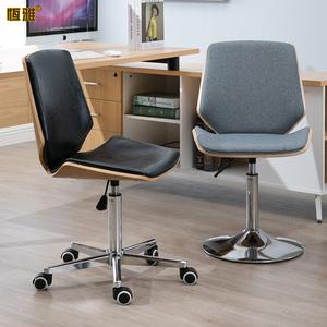 恒雅时尚转椅实木电脑椅子升降椅家用书房靠背椅办公前台椅休闲椅