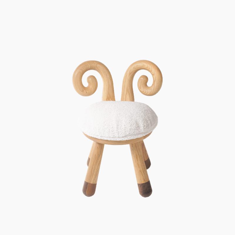 上形 化妆凳小羊凳 白蜡木黑胡桃 化妆凳椅茶几餐厅儿童画画凳