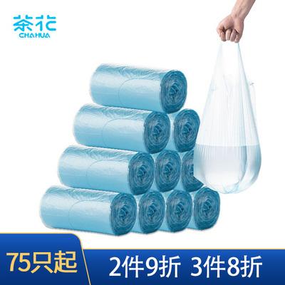 茶花一次性点断加厚垃圾袋特惠5卷装垃圾袋清洁袋3215P