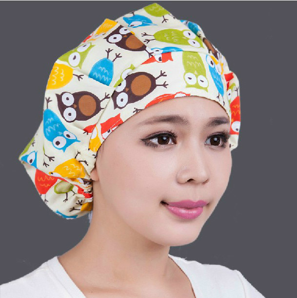 Doctor nurse pure cotton single layer hood hat, baking at home, smoke proof ladys headband can be rinsed and disinfected
