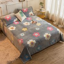 棉加厚100米单双人床1.8m清仓处理断码纯棉床单单件全棉学生宿舍