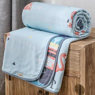 六层毛巾被纯棉纱布双人夏季午睡被子单人毛毯夏凉婴儿童盖毯小毯