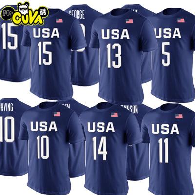 夏装杜兰特詹姆斯欧文短袖T恤潮USA美国男篮梦之队训练体恤篮球服