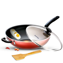 Fume-free, non-stick frying pan, induction cooker, gas-fired, non-stick frying pan, household frying pan, non-stick frying pan