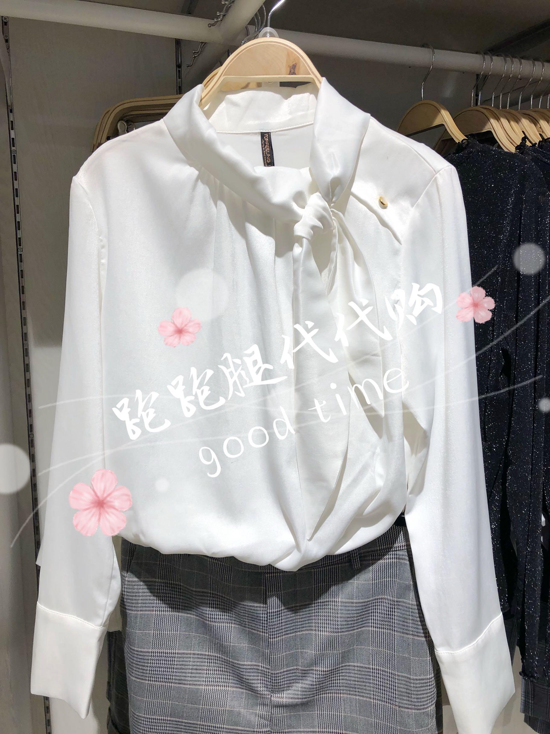 MJstyle/topfeeling秋装新款OL气质领口绑带女长袖衬衫719120036