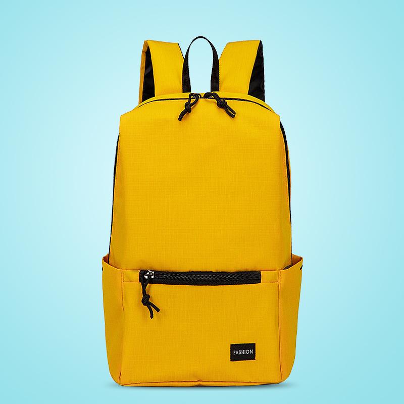 Backpack female small capacity schoolbag Korean fashion leisure sports backpack mens Light Mini outdoor travel bag