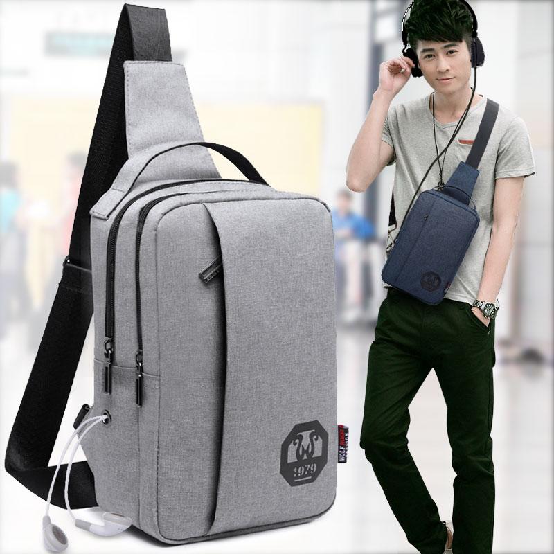 New mens chest bag, leisure messenger bag, sports bag, backpack, womens waist bag, shoulder bag, Korean mens bag, fashion bag