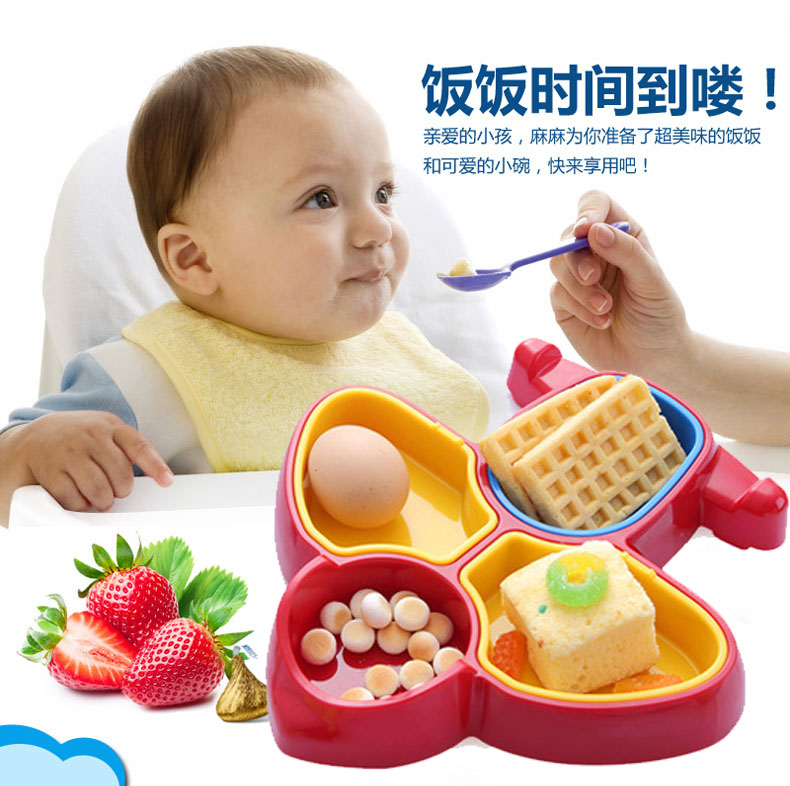 Baby tableware baby childrens dining bowl eating learning bowl childrens snack box fruit plate aircraft modeling