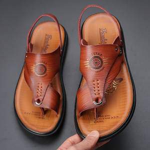 2021夏季新款舒适百搭男士沙滩鞋人字拖夹脚软底凉鞋休闲男鞋子