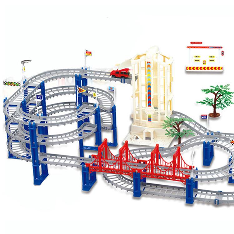 寶貝星新幹線 軌道玩具車多層 托馬斯火車玩具 兒童電動汽車軌道