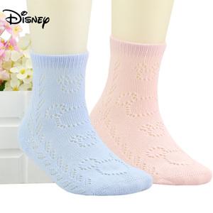 迪士尼儿童袜子纯棉袜男童女童3-5-7-9岁1小孩春秋夏宝宝网眼薄款