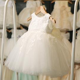 公主裙女童蓬蓬纱花童婚纱裙小女孩钢琴走秀主持人演出服儿童礼服