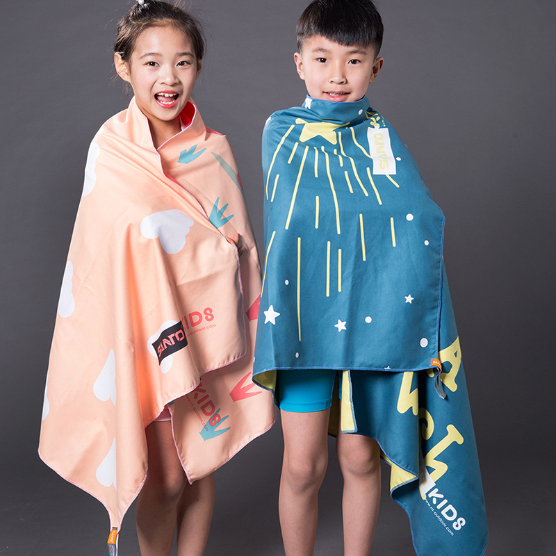山拓健身房吸水汗游泳旅行儿童浴巾