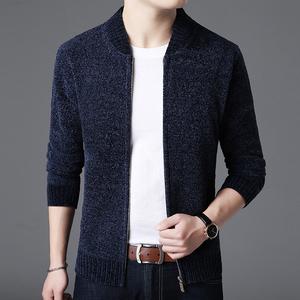 2018秋季男装新品男士夹克韩版修身型毛外套男式休闲上衣