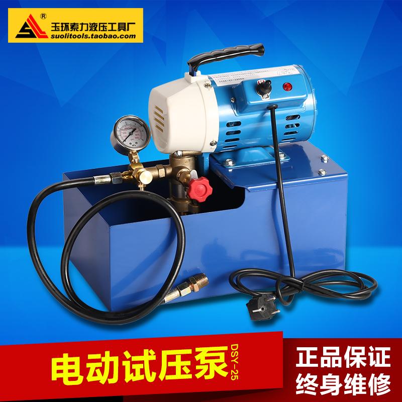 DSY-25 60 портативный электрический насос для испытания давления PPR водопроводный испытательный пресс двухцилиндровый насос давления