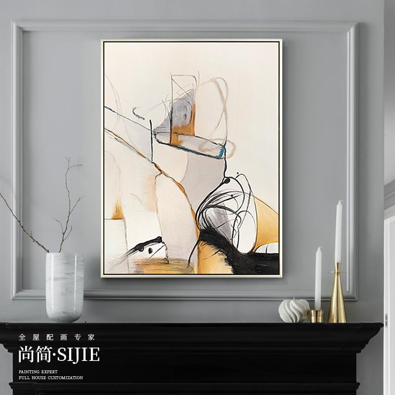 现代简约手绘抽象油画玄关沙发挂画热销13件限时2件3折