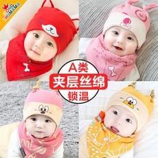 婴儿帽子秋冬季0-3-6-12月婴幼儿男女宝宝帽子新生婴儿胎帽春秋天