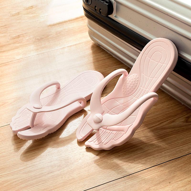 旅行必备便携折叠海边度假防滑拖鞋热销2549件有赠品