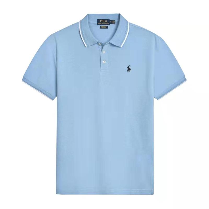 European and American brand new Polo pure cotton polo shirt foreign trade original loose oversize mens Lapel short sleeve T-shirt