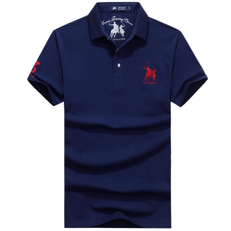 3号保罗夏装新款纯棉POLO衫外贸原单马球高尔夫运动大码男短袖T恤