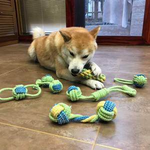 狗狗玩具狗咬绳套装磨牙绳结玩具球金毛泰迪博美幼犬大小型犬玩具
