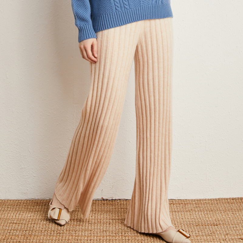 Autumn and winter 100% pure cashmere pants for womens wear