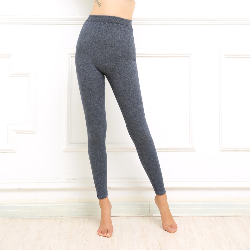 Cashmere Leggings Leggings womens solid color high-end slim pants with fat and large waist seamless thermal pants