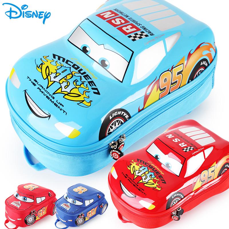 兒童書包幼兒園男童迪士尼3D汽車總動員麥昆卡通可愛寶寶雙肩包