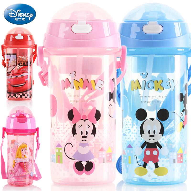 兒童水杯壺帶吸管防漏迪士尼米奇卡通學生 杯子幼兒寶寶吸管杯
