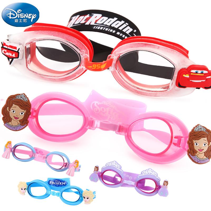 迪士尼兒童泳鏡防水防霧高清男童女童潛水遊泳裝備小孩寶寶遊泳鏡