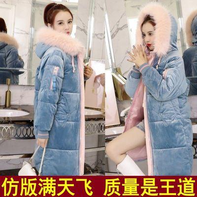 金丝绒棉衣女中长款学生韩版冬季外套新款羽绒棉服女bf面包服特价