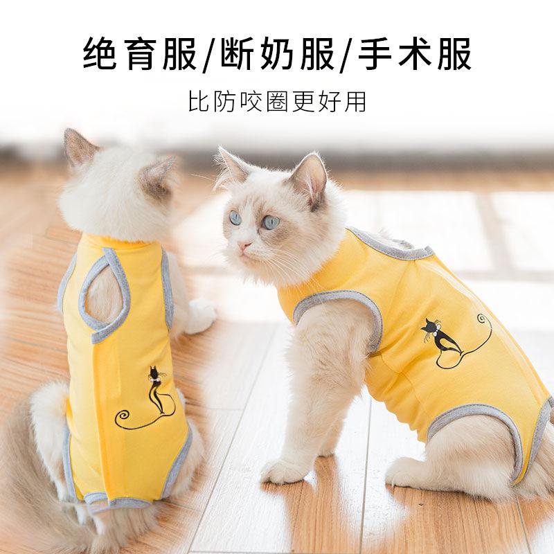 猫咪衣服夏季防舔绝育服手术服宠物用品母猫断奶服薄款亚马逊爆款