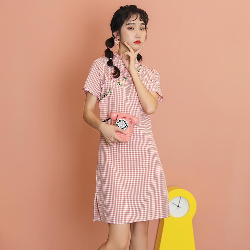 实拍现货2020夏新款年轻款少女连衣裙
