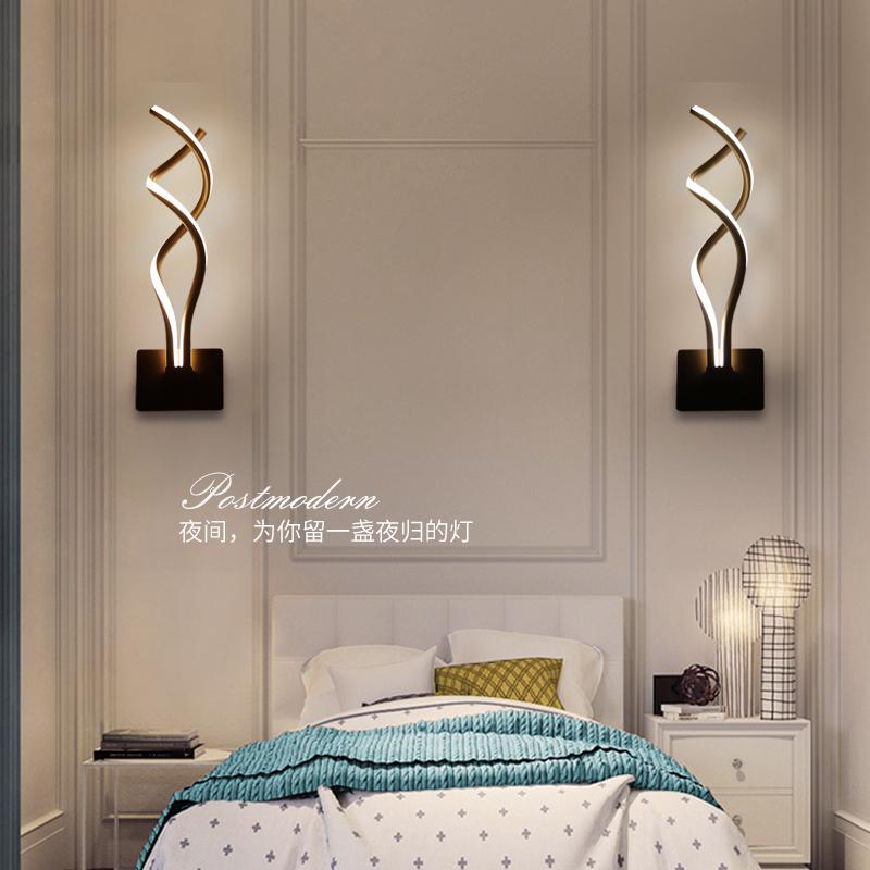创意简约后现代壁灯客厅电视柜灯具走廊过道楼梯灯led卧室床头灯