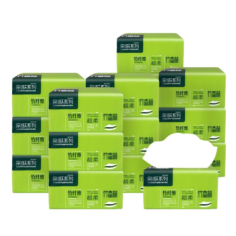 竹森林抽纸整箱60包3层抽取式面巾卫生纸巾家用餐巾纸家庭装222