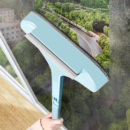 纱窗刷清洗神器擦玻璃免拆洗擦窗户网清洁工具家用高楼刮水双面刷