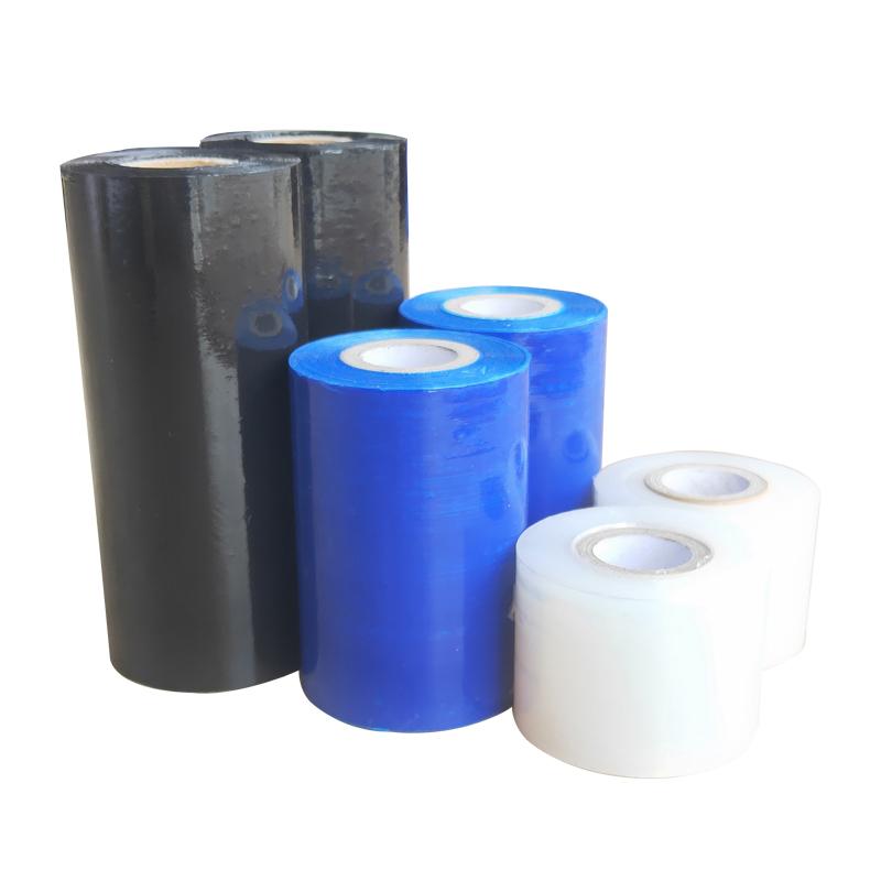 環境保護の全く新しい材料の電線の膜peは引っ張って巻いて膜の透明な包装の膜にくっついてから接ぎ木して膜の5-10 cmを包装します。