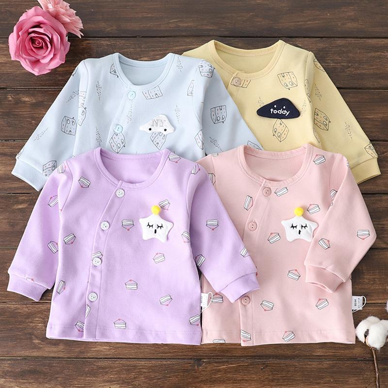 3个月初生婴儿衣服男女6纯棉上衣热销66件限时2件3折
