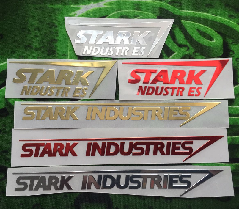 Stark 斯塔克工业 钢铁侠金属贴纸手机笔记本机箱电脑车贴金属贴