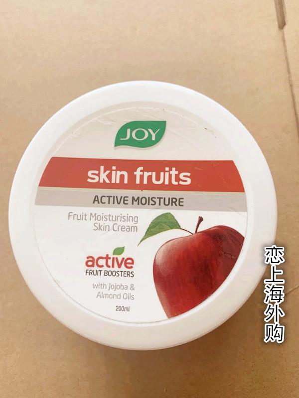 印度原装 JOY 苹果水果核桃活性滋润保湿面霜日霜200ml身体霜