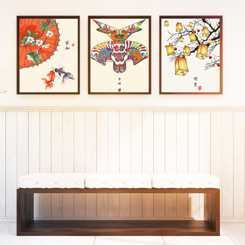 青馥diy数字油画新中式客厅手绘画11-08新券