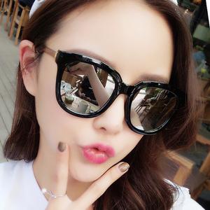 墨镜女韩版潮gm新款明星网红款太阳眼镜ins街拍复古圆脸防紫外线