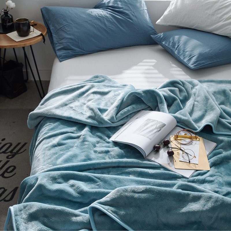 Blanket coral nap blanket thickened warmth double student dormitory single winter single sheet flannel