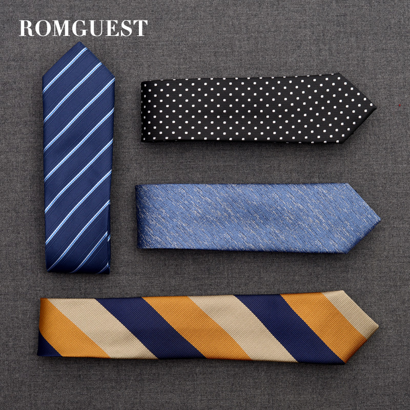 Romguest tie men's Korean version 6cm narrow leisure business professional students women's dress bridegroom's Wedding Shirt
