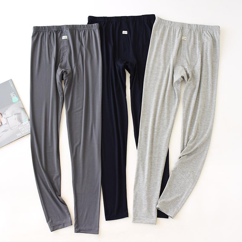 莫代尔秋裤男高腰单件超薄内穿加长加大修身春夏保暖打底线裤衬裤