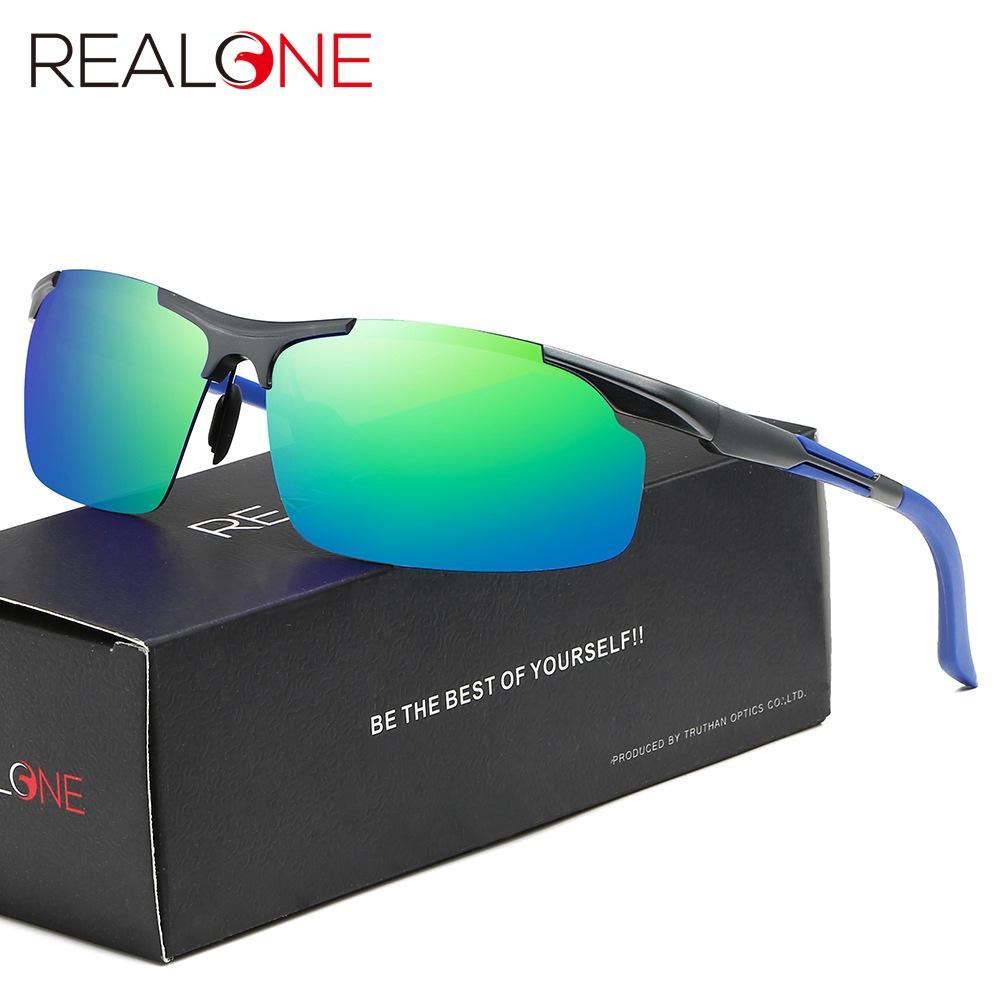 New outdoor sports glasses aluminum magnesium half frame sunglasses mens polarized riding glasses mountaineering glasses 5983