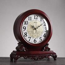 新中式座钟客厅摆台式大号复古钟表桌面家用时钟摆件摆钟台式坐钟