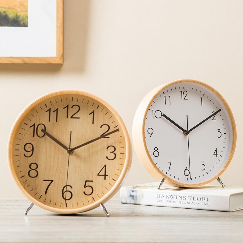 Деревянный сиденье колокол качели колокол рабочий стол гостиная большой размер простой тайвань колокол творческий домой рабочий стол часы спальня немой часы
