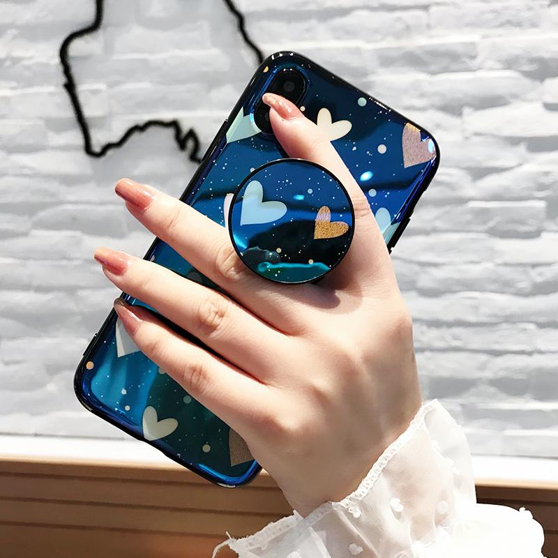 抖音同款气囊支架iphone X手机壳创意蓝光苹果8/7plus/6s防摔潮女